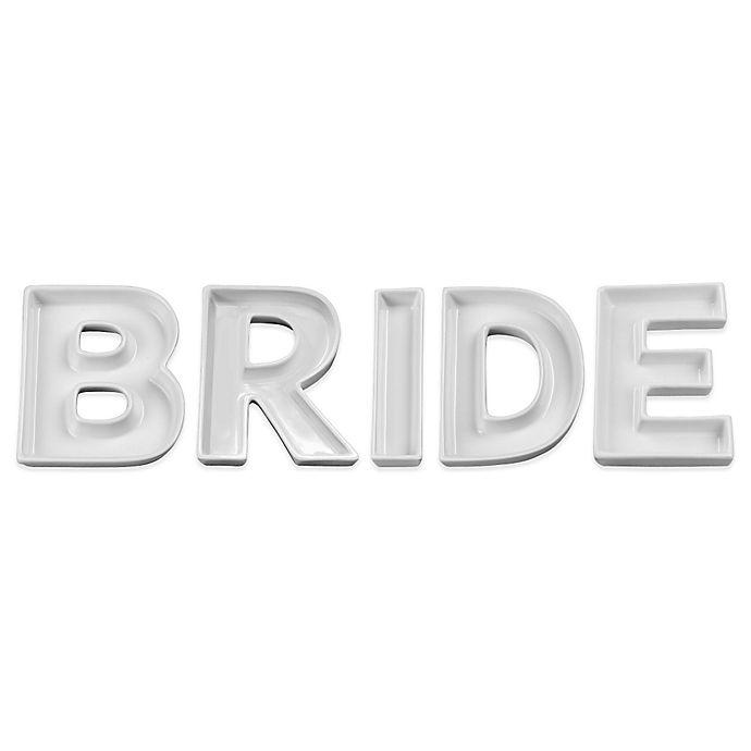 Alternate image 1 for Ivy Lane Design BRIDE Ceramic Candy Dish Set