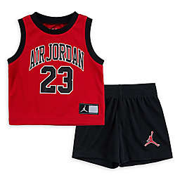 Nike® Jordan® 2-Piece Toddler Muscle Tank and Short Set in Red/Black