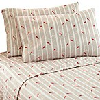 Micro Flannel® Printed Cardinal Full Sheet Set in Brown