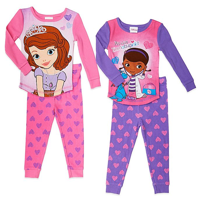 Disney The Doc Is In 4 Piece Doc Mcstuffins Toddler: Girls' Sleepwear > Disney® Size 4T Sofia The First And Doc