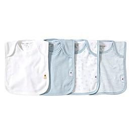 Burt's Bees Baby® Bee Essentials 4-Pack Organic Cotton Lap-Shoulder Bibs in Sky