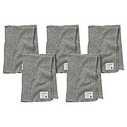Burt's Bees Baby® 5-Pack Organic Cotton Burp Cloths in Heather Grey