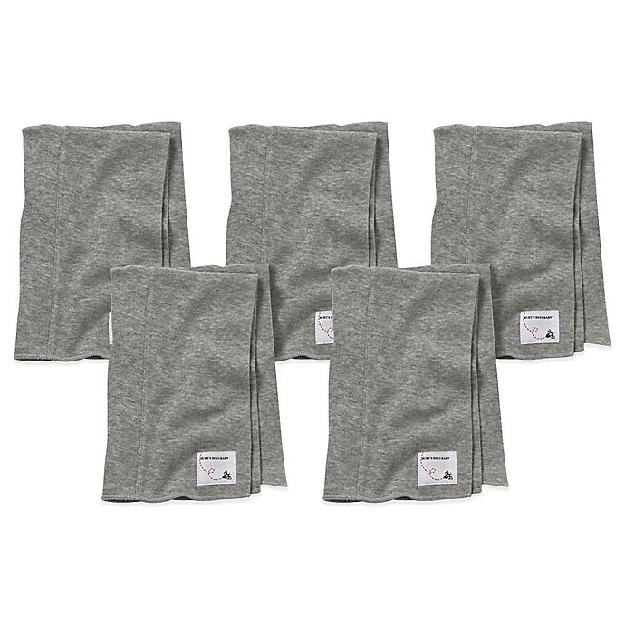 c3af61d3ac8b Burt s Bees Baby® 5-Pack Organic Cotton Burp Cloths in Heather Grey ...