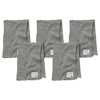 Burt's Bees Baby® 5-Pack Organic Cotton Burp Cloths in Heather Grey