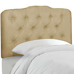 Skyline Furniture Tufted Headboard in Velvet Buckwheat