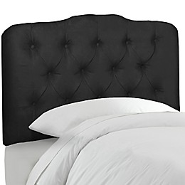 Skyline Furniture Tufted Headboard in Velvet Black