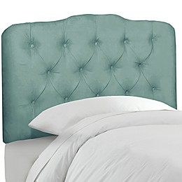 Skyline Furniture Tufted Headboard in Velvet Caribbean