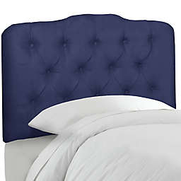 Skyline Furniture Tufted Full Headboard in Velvet Royal