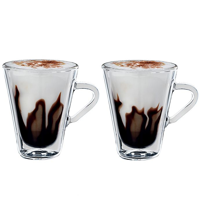 Alternate image 1 for Luigi Bormioli Thermic Borosilicate Double-Wall Espresso Mugs (Set of 2)
