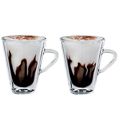 Luigi Bormioli Thermic Borosilicate Double-Wall Espresso Mugs (Set of 2)