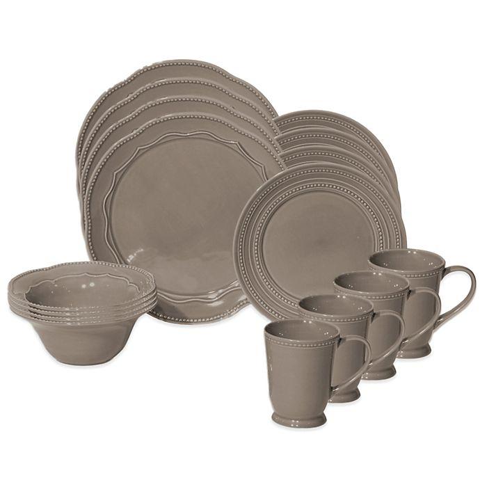 Alternate image 1 for Baum Adorn 16-Piece Dinnerware Set in Stone