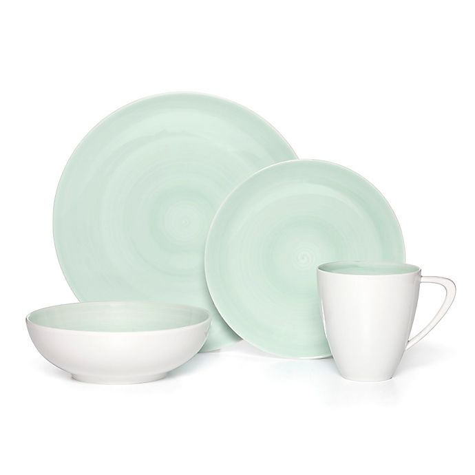 Alternate image 1 for Mikasa® Savona 4-Piece Place Setting in Teal