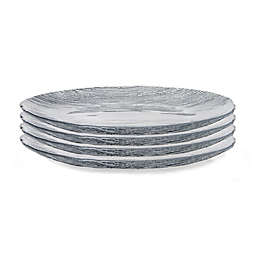 Classic Touch Trophy Charger Plates in Silver (Set of 4)