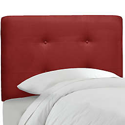Skyline Furniture Tufted Headboard in Premier Red