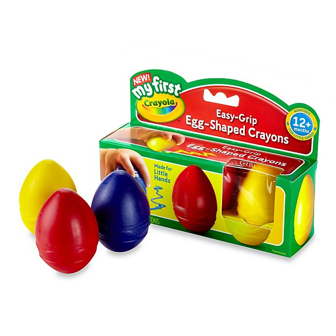 Alternate image 1 for Crayola® My First Crayola 3-Pack Scribbled Egg Crayons