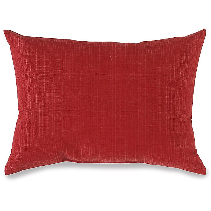 Sensational 12 Inch X 16 Inch Outdoor Oblong Throw Pillow In Red Bed Caraccident5 Cool Chair Designs And Ideas Caraccident5Info