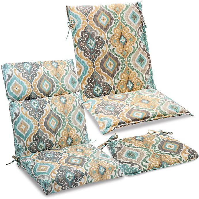 Outdoor Cushions And Pillows In Ikat Mist Bed Bath And