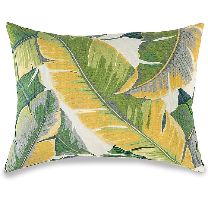 Large Leaves Oblong Outdoor Throw Pillow Bed Bath Beyond