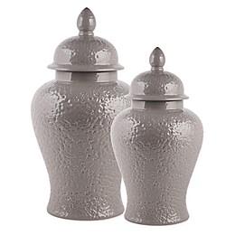 W Home Modern Ginger Jar in Grey