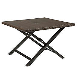 Barrington Wicker 4-Person Folding Dining Table