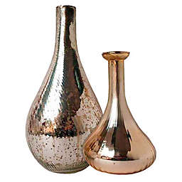 W Home Metallic Glass Vase in Light Gold