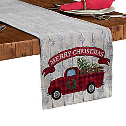 Dusted Tree Red Truck Table Runner