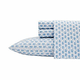Ivory Ella® Kinzie Cotton Percale Sheet Set in Blue