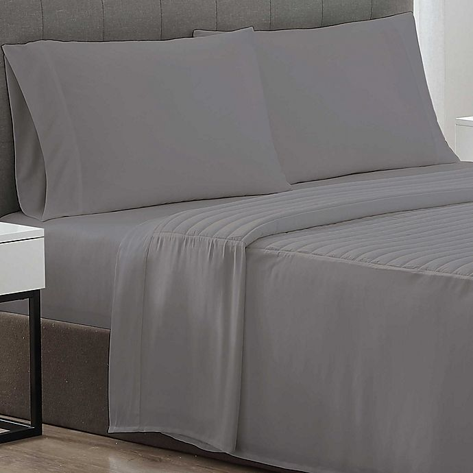 Alternate image 1 for Therapedic® Weighted Cooling 300-Thread-Count Twin XL Sheet Set