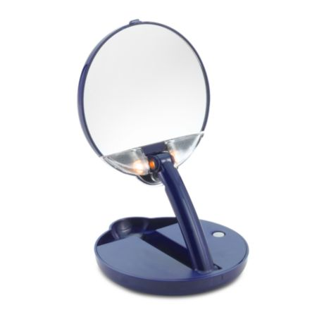 Floxite 15x Mirror Mate Lighted Adjustable Compact And