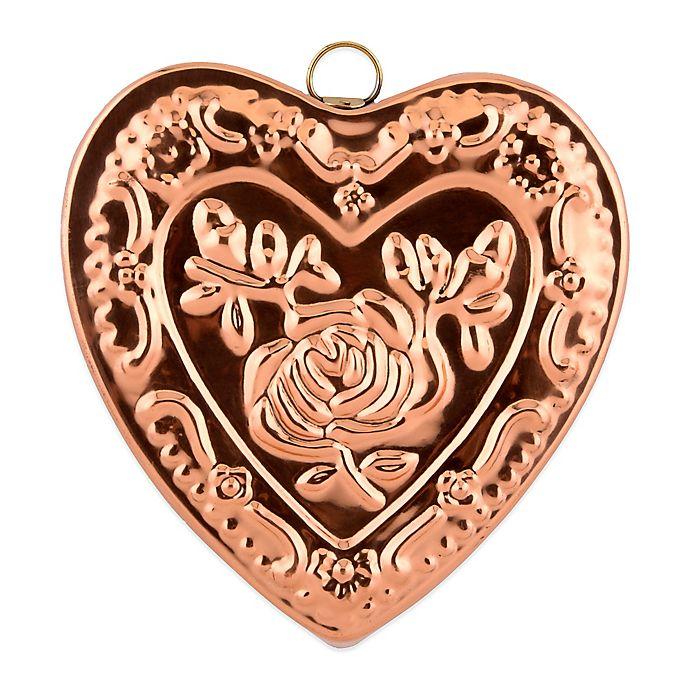 Alternate image 1 for Old Dutch International Solid Copper Heart Rose Gelatin Mold