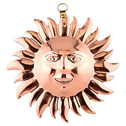 Old Dutch International Solid Copper Sun Face Gelatin Mold
