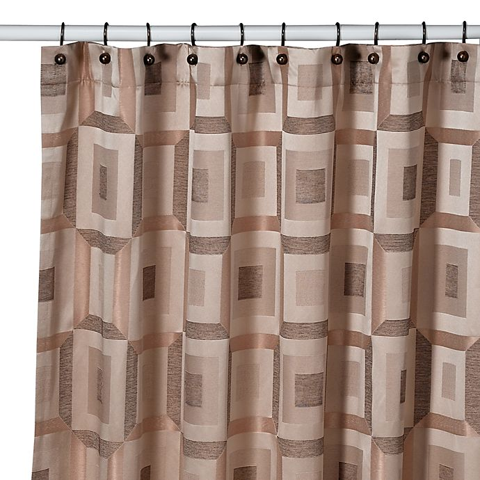 Croscill Metro 70 Inch X 84 Shower Curtain In Bronze