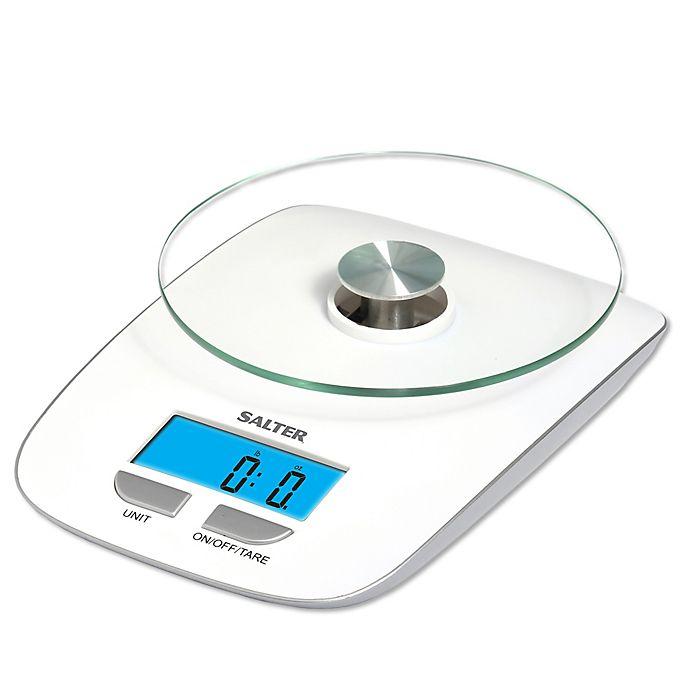 Salter Digital Kitchen Scale in White
