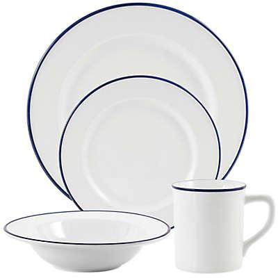 Everyday White® by Fitz and Floyd®  Blue Rim Dinnerware