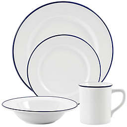 Everyday White® by Fitz and Floyd® Blue Rim Dinnerware Collection