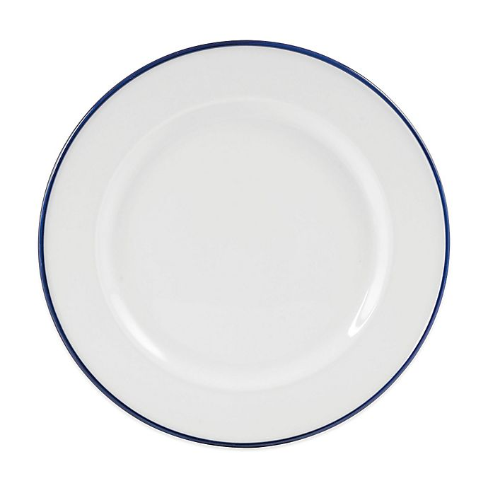 Alternate image 1 for Everyday White® by Fitz and Floyd® Blue Rim Dinner Plate