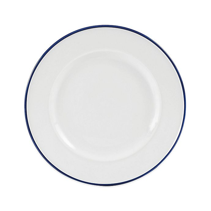 Alternate image 1 for Everyday White® by Fitz and Floyd® Blue Rim Salad Plate