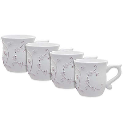 Dena™ Home Pavillion Mugs in White (Set of 4)