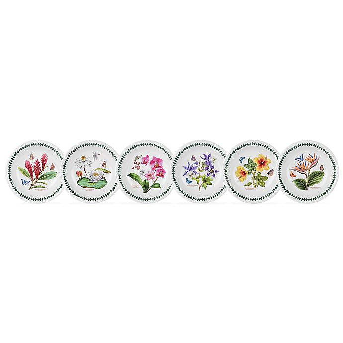 Alternate image 1 for Portmeirion® Exotic Botanic Garden Assorted Pasta Bowls (Set of 6)