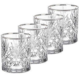 Lorren Home Trends Reagan Double Old Fashioned Glasses (Set of 4)