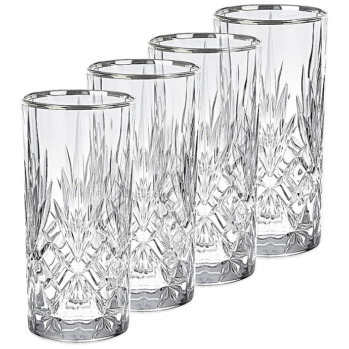 Alternate image 1 for Lorren Home Trends Reagan Highball Glasses (Set of 4)