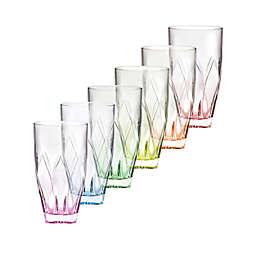 Lorren Home Trends Ninphea Highball Glasses (Set of 6)