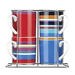 DKNY Lenox® Urban Essentials Stacking Mugs with Rack