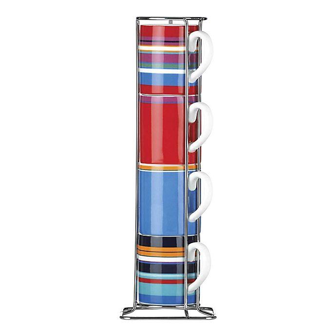 Alternate image 1 for DKNY Lenox® Urban Essentials Espresso Cups with Rack