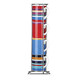 DKNY Lenox® Urban Essentials Espresso Cups with Rack