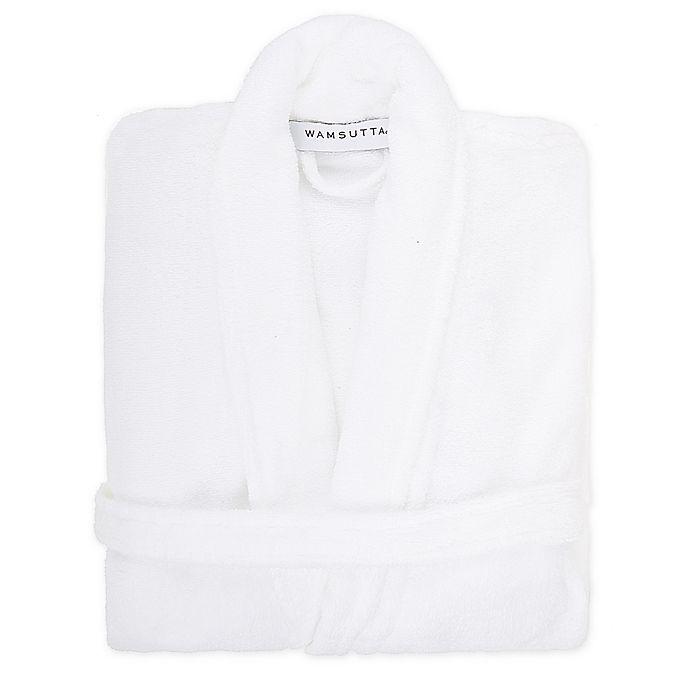 Alternate image 1 for Wamsutta® Ultra-Soft Unisex Terry Bathrobe in White