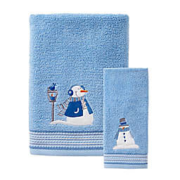 SKL Home Snow Buddies Bath Towel in Blue