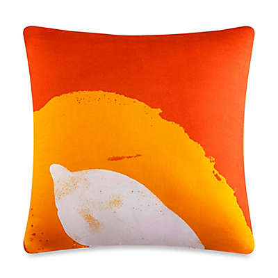 J by J. Queen New York Joy Square Throw Pillow in Orange