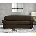 Sure Fit® Designer Suede Individual Cushion 2-Seat Sofa Slipcover in Chocolate