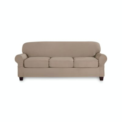 MOYMO Reversible Oversized Sofa Cover for Dogs,Durable Sofa Slipcover,Couch Covers for Dogs,Couch Covers for 3 Cushion Couch,Sofa Covers for Living Room Sofa Oversize:Dark Grey//Beige